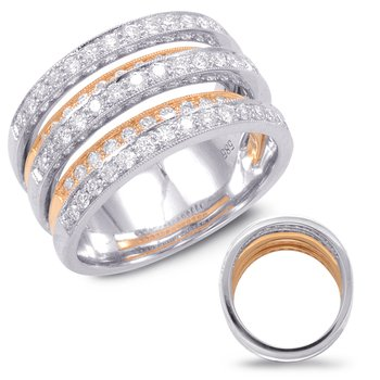 Diamond Band Rose & White Gold