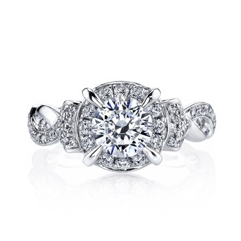 MARS 25948 Diamond Engagement Ring, 0.45 Ctw.