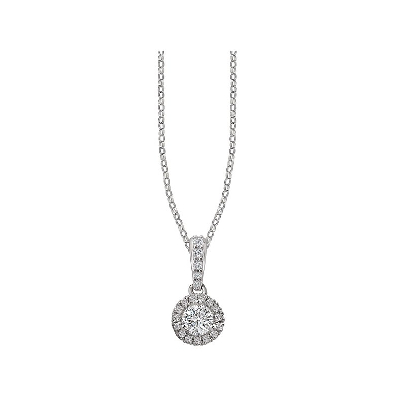 Tesoro Ladies Diamond Halo Pendant