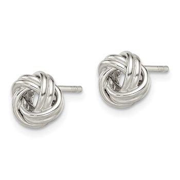 Sterling Silver Polished Love Knot Post Earrings