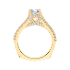 Carizza 14K Yellow Gold Round Diamond Engagement Ring with Split Shank (Semi-Mount)