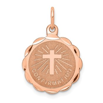14k Rose Gold Confirmation Disc Charm
