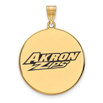 Gold-Plated Sterling Silver University of Akron NCAA Pendant