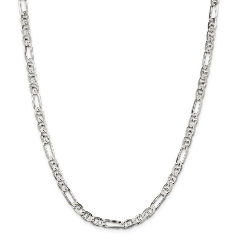 JC Sipe Essentials Sterling Silver 5.5mm Figaro Anchor Chain