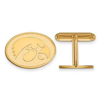 Gold-Plated Sterling Silver University of Iowa NCAA Cuff Links