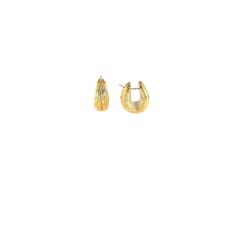 18KT ORO CLASSIC FLUTED HOOP EARRING