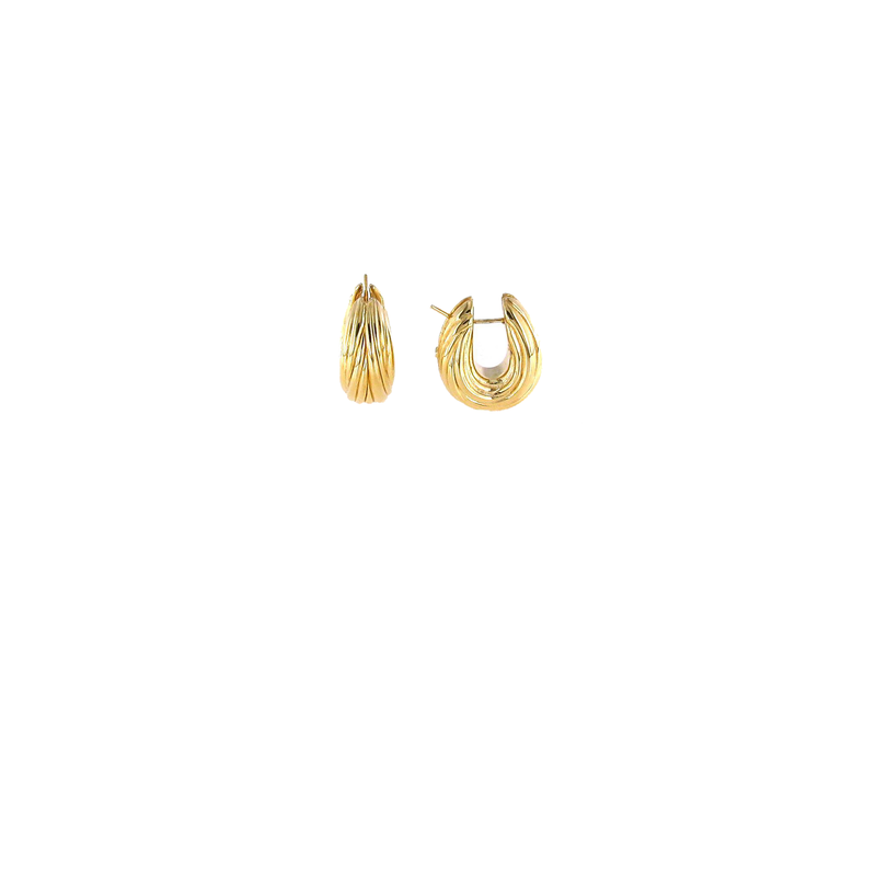 Roberto Coin 18Kt Oro Classic Fluted Hoop Earring