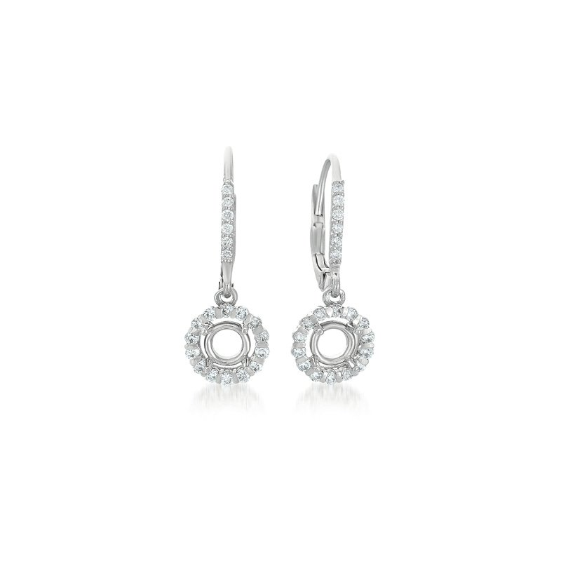 S. Kashi  & Sons White Gold Earrings. For 2 x 50 Ptrs