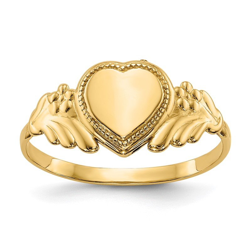 Quality Gold 14k Polished Heart Baby Ring