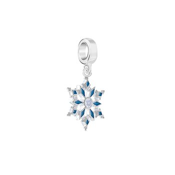 WINTER BRIGHT SNOWFLAKE Swar Zirconia, Blue Enamel