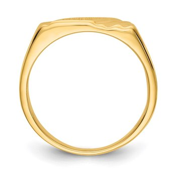 14k 5.5x5.5mm Open Back Signet Ring