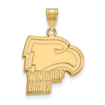 Gold Winthrop University NCAA Pendant