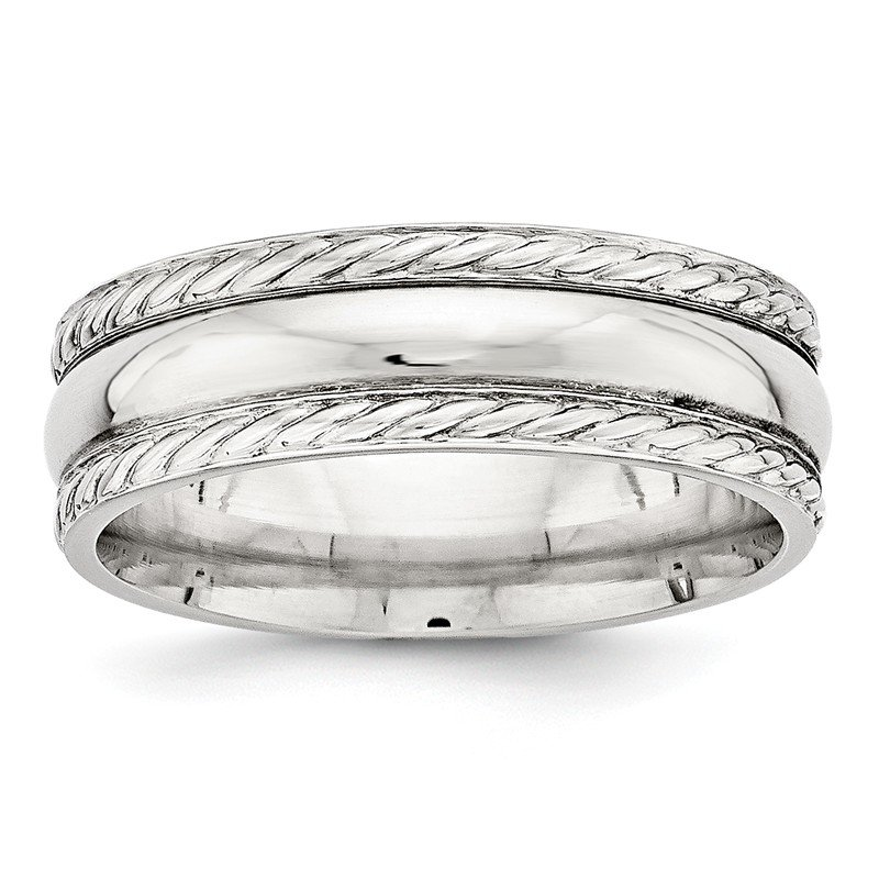 Lester Martin Online Collection SS 6mm Polished Fancy Band Size 10