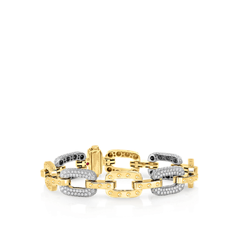 18Kt Gold Bracelet With 5 Diamond Links