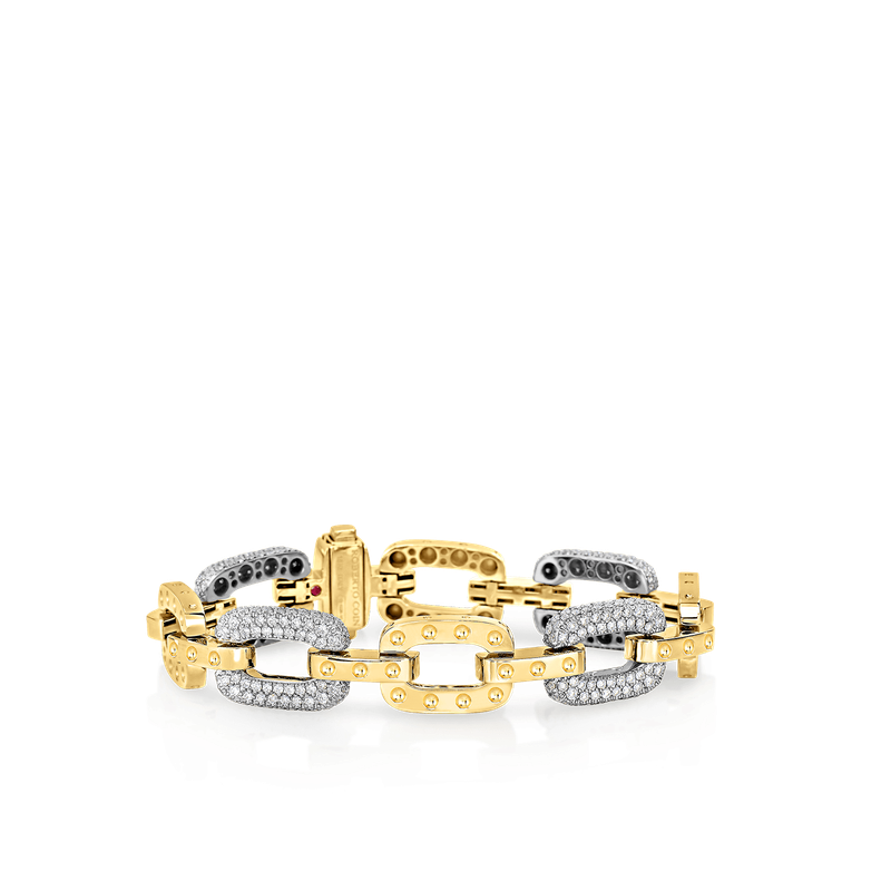 Roberto Coin 18KT GOLD BRACELET WITH 5 DIAMOND LINKS