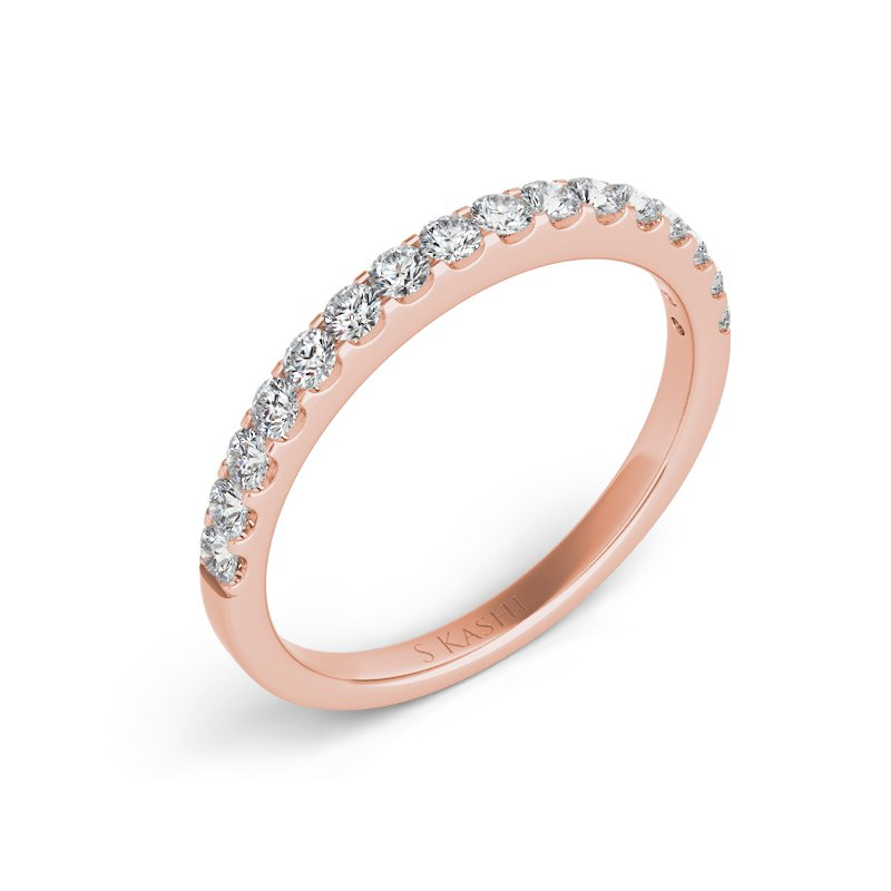 MAZZARESE Bridal Rose Gold Matching Band