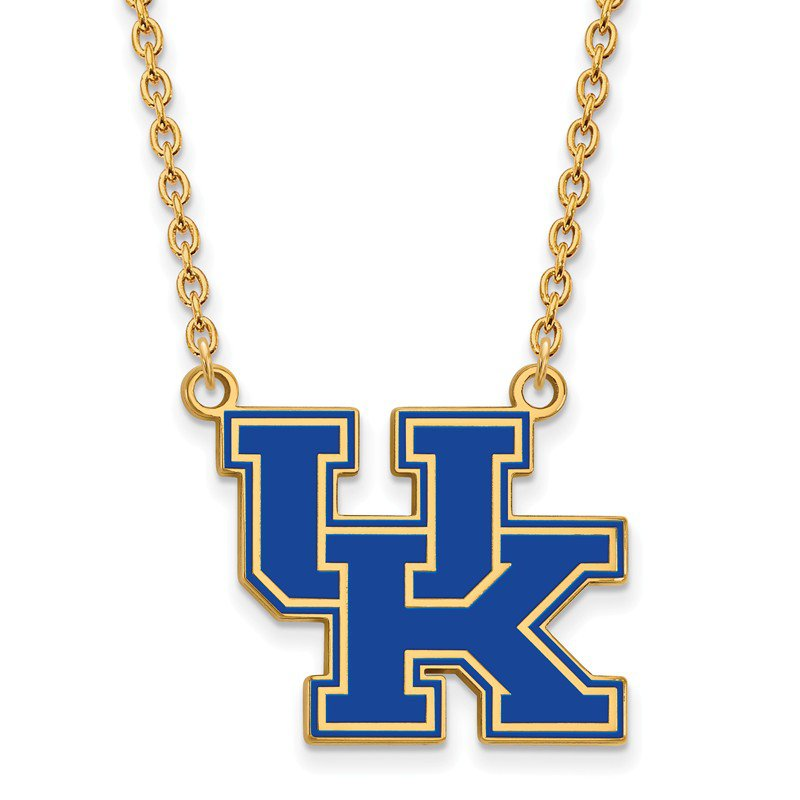 NCAA Gold-Plated Sterling Silver University of Kentucky NCAA Necklace