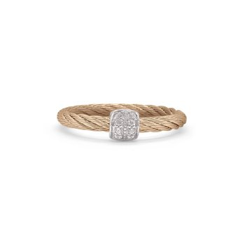 Diamond Barrel Station Ring