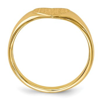 14k 7.5x8.5mm Open Back Heart Signet Ring