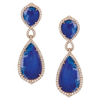 Royal Lapis Fashion Earrings