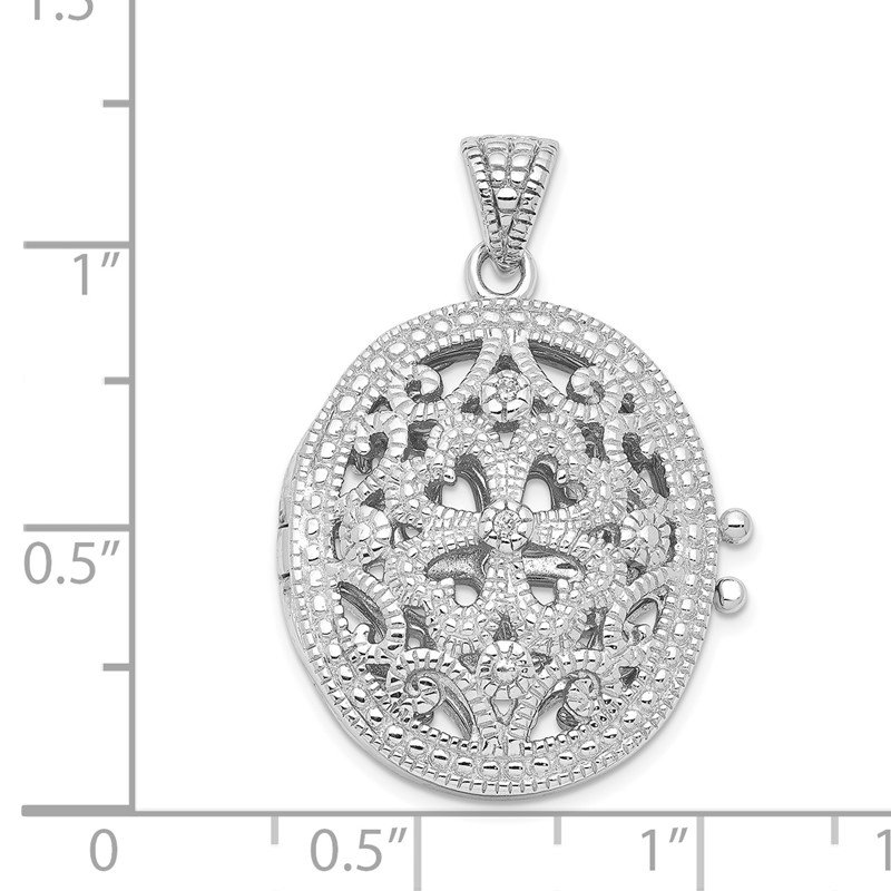Quality Gold Sterling Silver CZ Locket