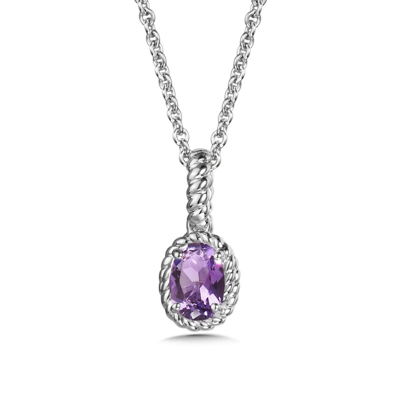 SDC Creations Amethyst Pendant in Sterling Silver