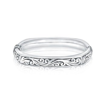 Closed Square Paisley Bangle