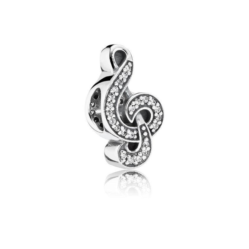 PANDORA Sweet Music Treble Clef, Clear CZ
