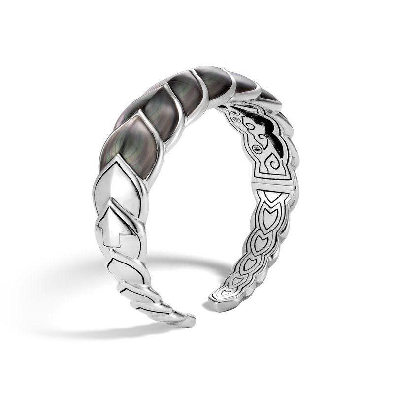 JOHN HARDY Legends Naga 18.5MM Flex Cuff in Silver with Gemstone
