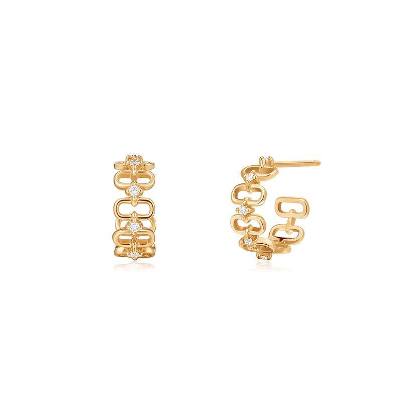 Aurelie Gi Anastasia | Diamond Paper Clip C-Hoop Earrings