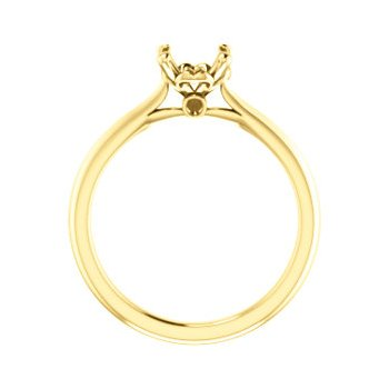 18K Yellow 7 mm Round Engagement Ring Mounting
