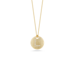 Roberto Coin Disc Pendant With Diamond Initial L