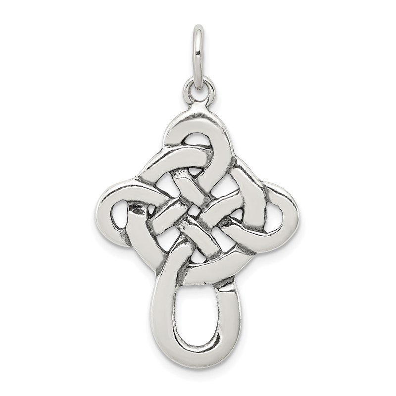 Quality Gold Sterling Silver Celtic Cross Pendant