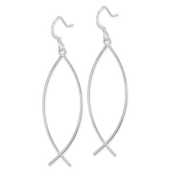 Sterling Silver Ichthus (fish) Earrings