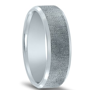 N17205 - Men's Organic Center Finish Wedding Band