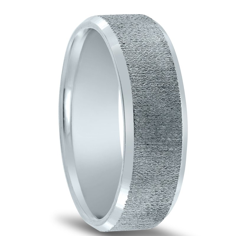 Novell N17205 - Men's Organic Center Finish Wedding Band