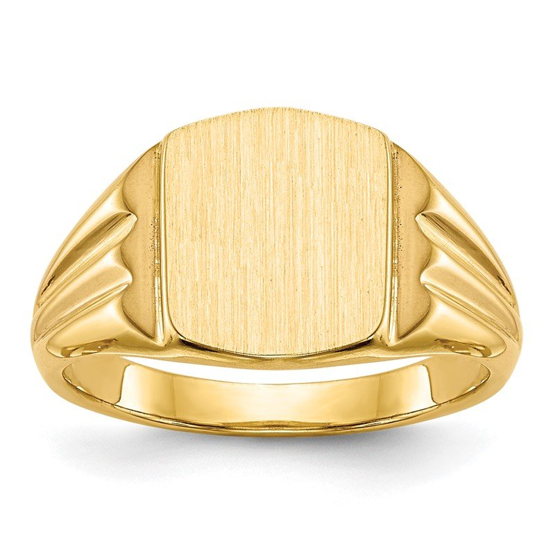 Quality Gold 14k 10.5x8.5mm Closed Back Signet Ring