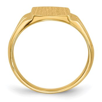 14k 10.5x8.5mm Closed Back Signet Ring