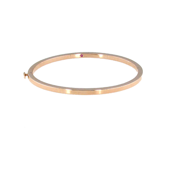 #26018 Of 18Kt White Oro Classic Oval Bangle