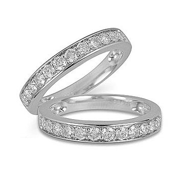 14K WG Diamond Band in Channel Prong Setting