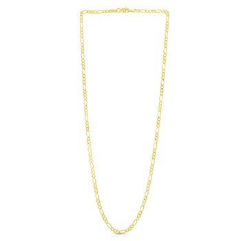 14K Gold 2.8mm Figaro Chain