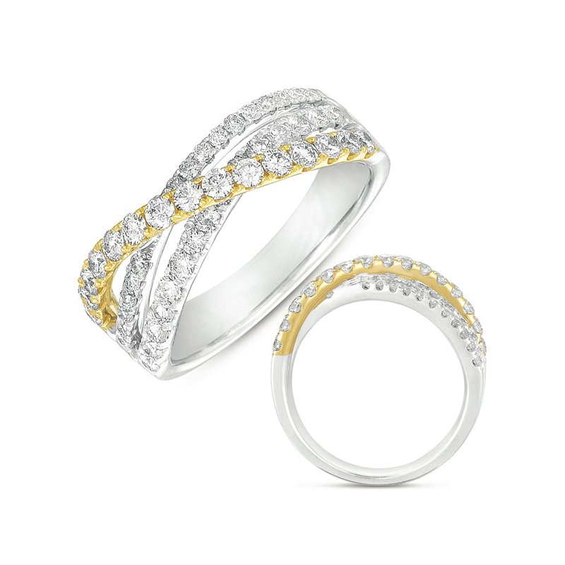 S. Kashi  & Sons White & Yellow Gold Fashion Ring