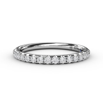 Delicate Pave Diamond Anniversary Band