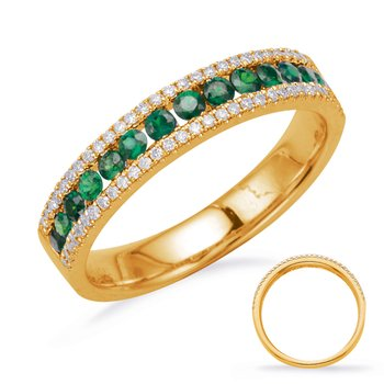 White Gold Emerald & Diamond Ring