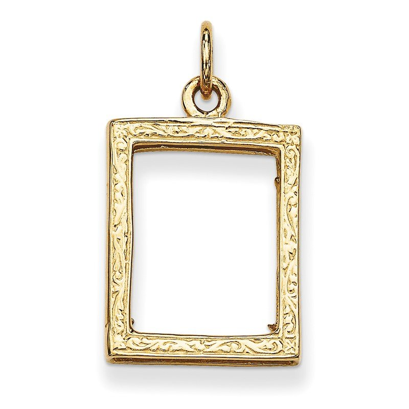 Quality Gold 14k Small Picture Frame Pendant