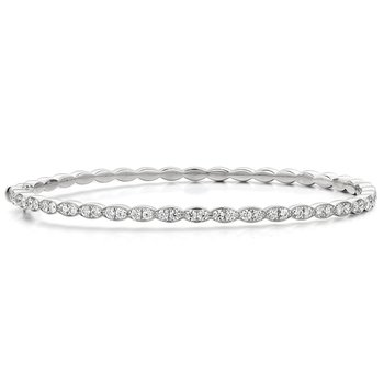 1.12 ctw. Lorelei Floral Diamond Bangle