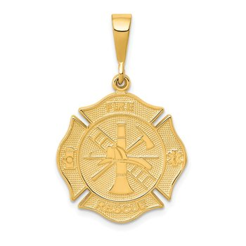 14k FIRE RESCUE Pendant