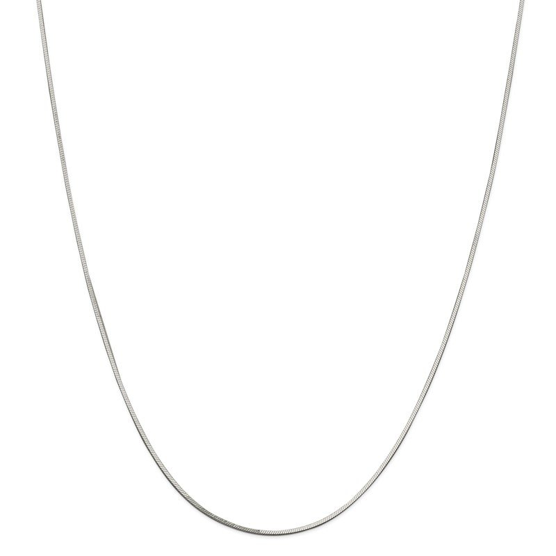 J.F. Kruse Signature Collection Sterling Silver 1mm Square Snake Chain