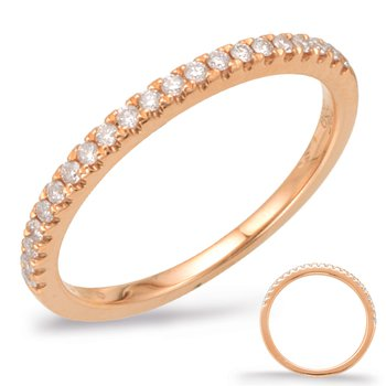 Pink Diamond Wedding Band -Rose Gold