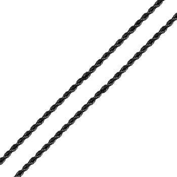 3mm Super Black Rope Chain